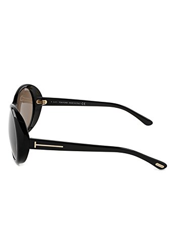 666a0d4b9d7fb Amazon.com  Tom Ford Geraldine FT0202 Sunglasses-01J Gold Shiny Black (Brown  Lens)-62mm  Clothing