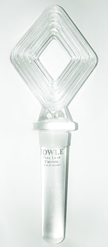 (Towle Silversmiths QUATTRO 24% Lead Crystal Wine Bottle Stopper - Made in Austria)