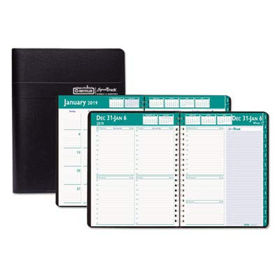 (House of Doolittle Express Track Weekly/Monthly Planner 13 Months January 2015 to January 2016, 8.5 x 11 Inches, Black Cover, Recycled (HOD29602-15))