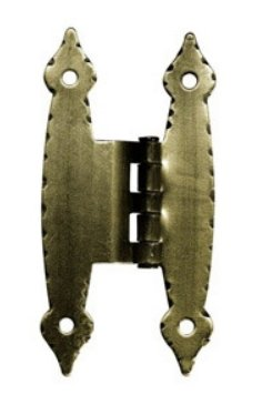 Offset Antique Brass Finish Hinge - 3 1/2
