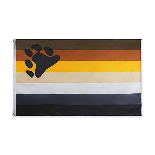 - FLAGLINK Bear Pride Flag- 3x5 Fts - LGBTQIA Bear Brotherhood Gay Rainbow Banner