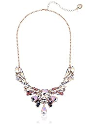 Betsey Johnson (GBG) Stone Frontal Necklace, Pink, One Size