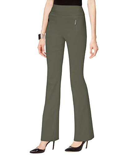INC International Concepts Curvy-Fit Wide-Leg Pants (Olive Drab, 6)