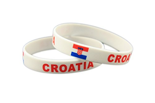 Evankin Forest Country Flag Unisex Silicone Bracelet Rubber Sports Fashion Wristband(Croatia,one Size)