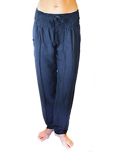 PIYOGA - Women's Boutique Lounge and Bohemian Yoga Pants, Petite Scrunched Bottom (Stretches from US Size 0-12) - Pixie -