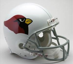 2004 Authentic Throwback Helmet - Riddell NFL Arizona Cardinals 1960-2004 Throwback Authentic Vsr4 Full Size Football Helmet