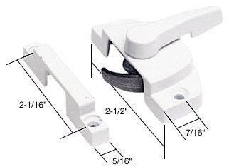 C.R. LAURENCE F2588 CRL White Window Sash Lock with 2-1/16