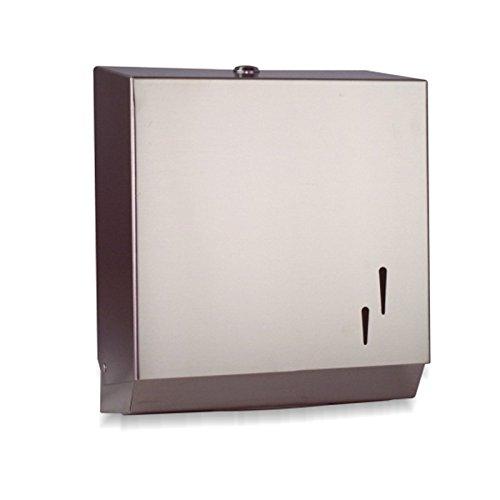 DISPENSADOR INOX de Toallas de papel para Manos Zig Zag para secado de manos fabricado en Acero de calidad para baños Públicos con cerradura y llave de ...