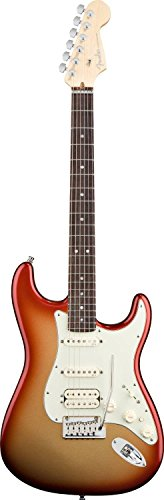 American Strat Fender Deluxe (Fender American Deluxe Strat HSS, Rosewood Fretboard - Sunset Metallic)