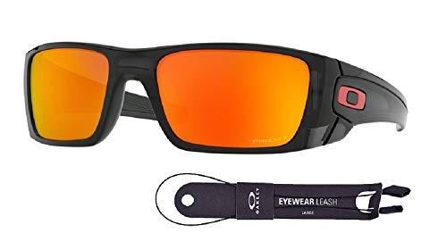 Oakley Fuel Cell OO9096 9096K0 60M Black Ink/Prizm Ruby Polarized Sunglasses For Men+BUNDLE with Oakley Accessory Leash Kit (Oakley Ersatzgläser Fives 3.0)