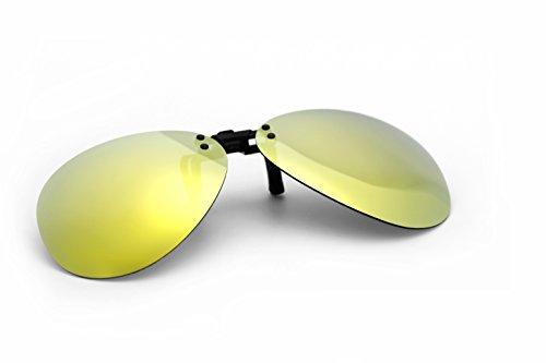 hombre Deporte lentes dorado de negro de sol UV400 Flip Running gafas sol gafas Up clip gris en polarizadas 1Frwqf61W