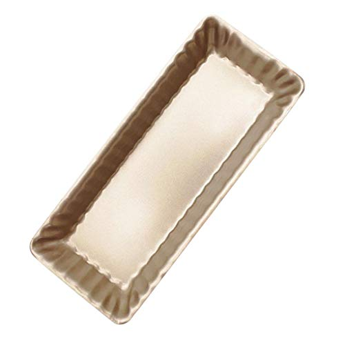 Bazzano Rectangular Baking Sheet Cookie Toast Oven Best Tray Muffin Bread Loaf Pan Gold
