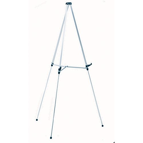Quartet Aluminum Lightweight Telescoping Display Easel, Silver Finish (50E) (Easel Aluminum Telescoping)