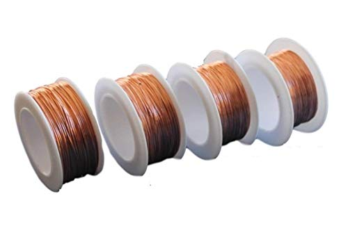 Bare Copper Round Wire Assorted Pack 24-26-28-30 Ga 100 Ft Spool Each ()