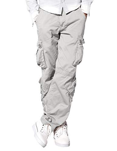 Match Men's Wild Cargo Pants(36,Light gray)