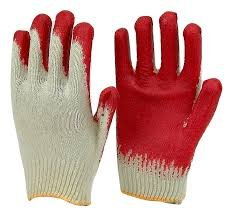 Red Latex Rubber Palm Coated Safety Work Gloves 300 Pack by Safety Grip Gloves (Image #1)