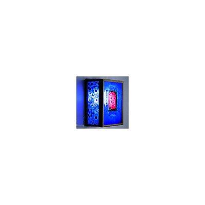 FN 3 Bronze Incadescent Wall Sconce (Half Moon Blue)