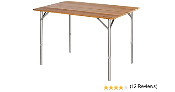 CAMPZ Bamboo Folding Table 100x65x65cm, Brown 2019 Mesas de ...