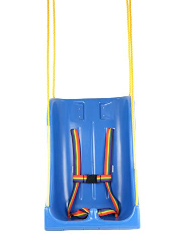 Full Support Swing Seat - Skillbuilders 30-1630 Full Support Swing Seat with Pommel, Rope, Small (Child)