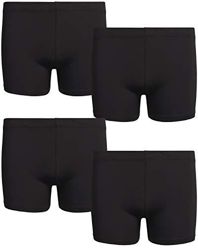 Rene Rofe Girls Under Dress Dance and Bike Short (4 Pack), Black, Black, Black, Black, Large - 10/12