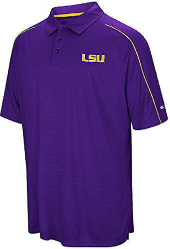 LSU Tigers Mens Purple Touchback Polyester Polo Shirt (X-Large) ()