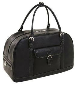 Siamod 45425 Stalla Napa Cashmere Leather Duffel Bag (Black), Bags Central