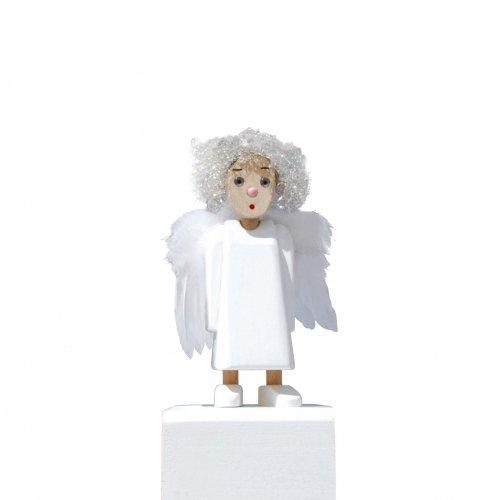 Meier meier572.10 18 cm Buche Holz Angelika mit Feder Flügel und Engel Haar