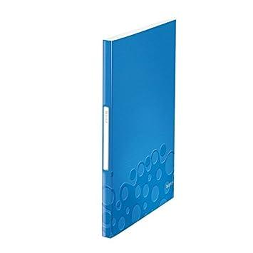 mit 20 Hüllen PP LEITZ Sichtbuch WOW A4 blau-metallic