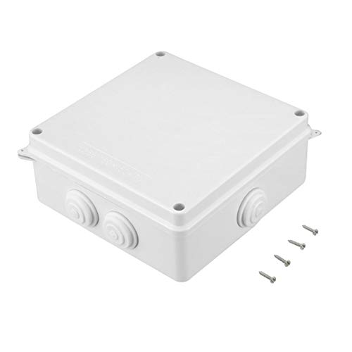 Awclub ABS Plastic Dustproof Waterproof IP65 Junction Box Universal Electrical Project Enclosure White 5.9