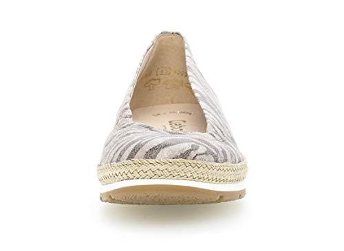 comfort 22 bailarinas De clásicamente jute Mujer Clásicas mehrweite 400 Verano Planos Antikrosa zapatos Elegantes zapatos Gabor Ftwq78d7