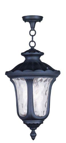 (Livex Lighting 7858-04 Oxford 3 Light Outdoor Hanging Lantern, Black)