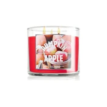 Bath and Body Works PUMPKIN APPLE scented, 14.5 oz, 3 wicked candle