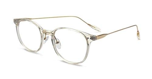 Kelens Transparent Clear Frame Round Hipster Prescription Glasses For Women