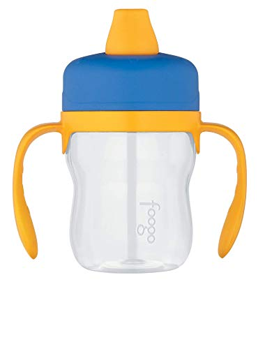Discount China Dishes (Thermos Foogo 8-Ounce Soft Spout Sippy Cup with Handles, Blue/Yellow)