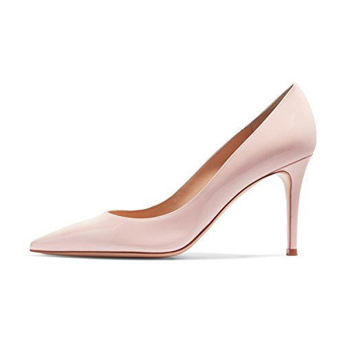 Fsj Donne Punta Punta Appuntita Scarpe Pompe Tacchi A Spillo Slip On Business Office Lady Scarpe Taglia 4-15 Us Pink