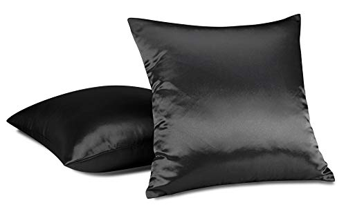 Aiking Home (2-Pack) Colorful Shiny Bridal Satin Euro Sham/Pillow Cover 26
