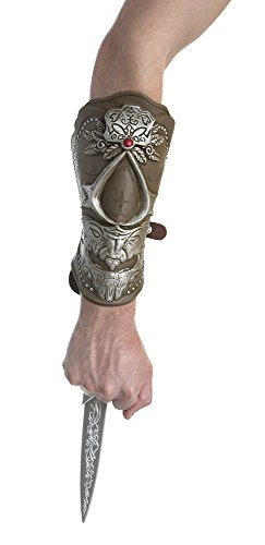 Palamon Men's Assassin's Creed Ezio Bladed Gauntlet Costume, Brown, One Size ()