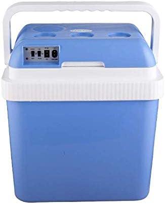 ZWH-ZWH 電気クールボックス24Lデュアルコアカー冷蔵庫カーとセルフドライブツアー、ピクニック、釣り、キャンプのためのホームクーラーとウォーマーDC12V 車載用冷蔵庫