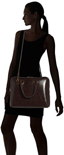 femmes Italie travail CTM Marrone Marron serviette véritable de Scuro 100 38x28x7cm de cuir de en sac Fabriqué RfOxqfS