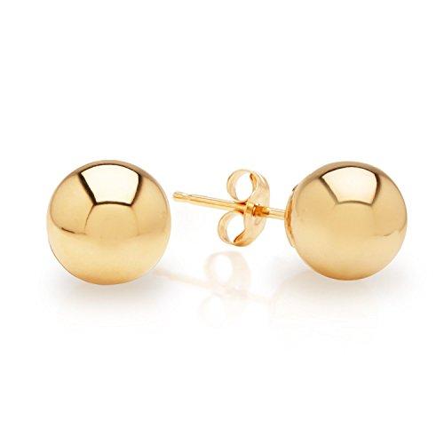 Yellow Gold 4mm Ball Earrings - 4