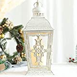 JHY DESIGN Decorative Candle Lantern -13'' High Metal Candle Holder Or Vintage Style Hanging Lantern for Indoor Outdoor…