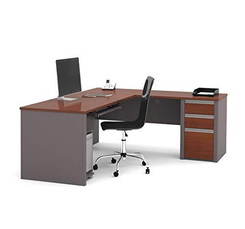 Bestar L-Shaped Desk with Pedestal - Connexion