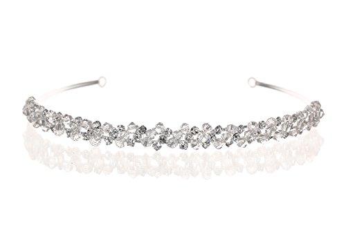 Handmade Bridal Rhinestone Crystal Prom Wedding Headband Tiara T1124 by Venus Jewelry