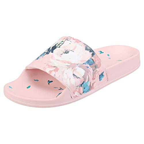 Ted Baker Avelini Womens Slide Sandals in Pink Multicolour - 8 UK