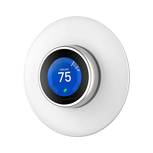 Wall Plate Cover for Nest Learning Thermostat 1st/2nd and 3rd Generation(Not Compatible with Nest E)- White ()