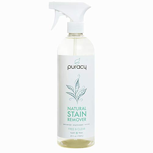 Puracy Natural Laundry Stain Remover, Enzyme-Based Spot Cleaner, Free & Clear, 25 Ounce (Get Coffee Stain Out Of White Shirt)