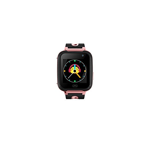 Kids Tracker Smart Watch LY ANT Waterproof Smartwatch Phone with Anti-Lost Alarm Remote Monitor SOS Calls Support Android iOS (Pink)