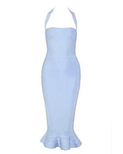 Cocktailkleid blau neckholder