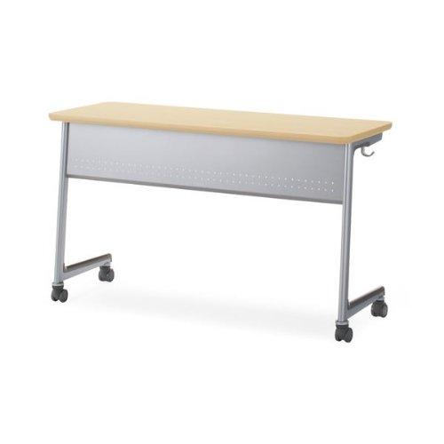 コクヨ Campus Desk Act 教育施設用家具 キャンパスデスクアクト(W1200) 2人用 網棚 スチール幕板 奥行き450タイプ 本体カラー:SAW/天板カラー:PAW B00AT7ZRESSAW-PAW