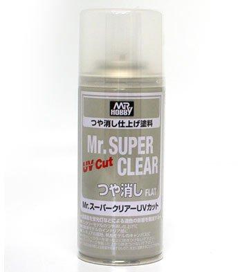Uv Paint Clear - Mr. Super Clear UV Cut Flat Spray